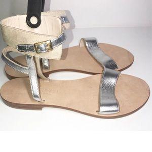 CORNETTI xRevolve Silver&Cream Ankle Strap Sandals